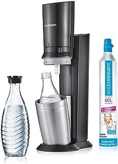 sodastream Crystal 2.0, Machine à Soda et Eau gazeuse, Argent, Titane