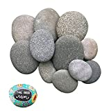 JTGPFC Rocas De Pintura Plana para Niños, Guijarros Naturales, Pintadas Piedras/Rocas, Muy Adecuadas para Pintura Y Producción, 12 Piezas De Grava De Pintura Lisa De 5-7 Cm (Size : 5-7cm(12pcs))