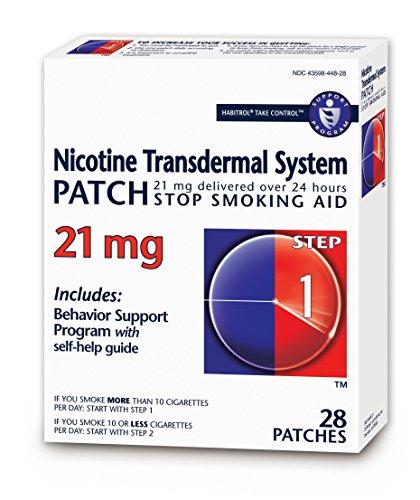 Habitrol Nicotine Transdermal System Patch | Stop Smoking Aid | Step 1 (21 mg) | 28 Patches (4 Week Kit)