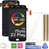 Z2 Play LCD Screen Replacement Touch Display Digitizer Assembly 5.5' (AMOLED-Black) for Motorola Moto Z2 Play XT1710-01 XT1710-02 XT1710-06 XT1710-07 with Repair Tools and Screen Protector