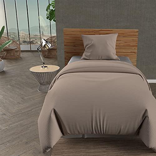 Soleil d'ocre Leo jeté de lit, Polyester, Ecru, 180 x 220 cm