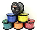 7 Rolls of 16 Gauge - 500' each Audiopipe Car Audio Home Primary Remote Wire