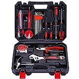 Kit de herramientas para el hogar, 20 piezas, acero al carbono con caja de plástico para el hogar