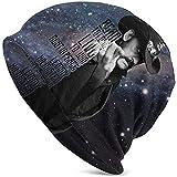 Mamihong Erwachsene Unisex Herren Damen Polyester Mode Slouchy Lemmy Kilmister Dünne Musik Gedruckt Strickmütze Hut Geschenk