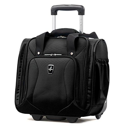 Atlantic Luggage Atlantic Ultra Lite Softsides Rolling Underseat Carry-on, Jade Black, One Size