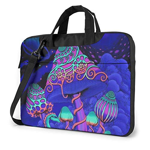 XCNGG Laptop Bag, Psychedelic Mushroom Business Briefcase Protective Bag Cover for Ultrabook, MacBook, Asus, Samsung, Sony, Notebook 15.6 inch