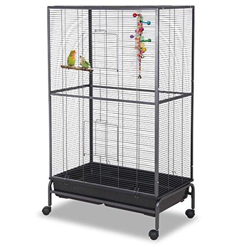 Montana Cages ® | Sittichkäfig, Käfig, Voliere, Vogelkäfig Kansas III - Antik in XXL für alle kleinen Freunde