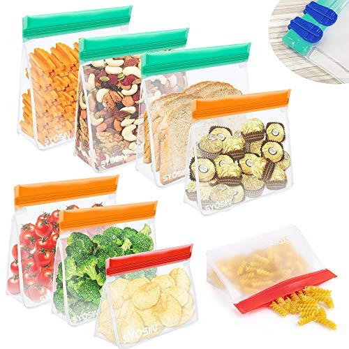 BAIYING Bolsa de Almacenamiento de Alimentos Reutilizable, 8