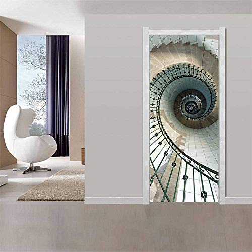 Papel tapiz de puerta 3D cartel de puerta interior autoadhes