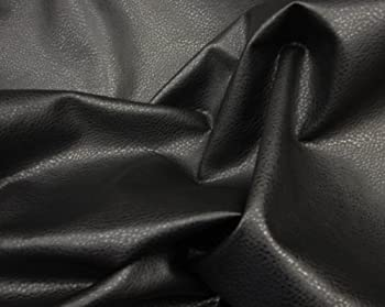 LUVFABRICS Faux Leather Vinyl Black Upholstery Ford Fabric by The Yard- 54 inches Wide- Shipped Rolled