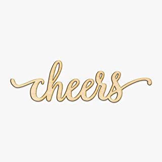 Cheers Wood Sign Home Party Wedding Rustic Décor Wall Art Unfinished 12