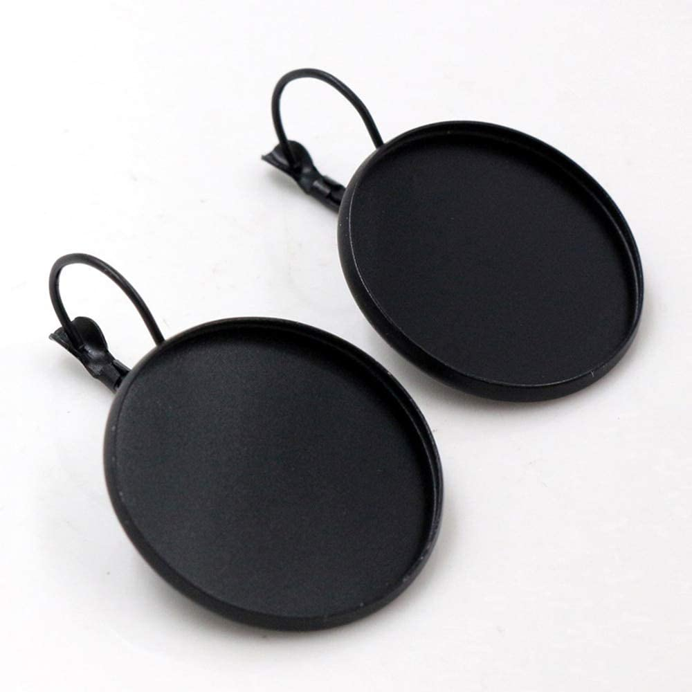 Triangle-Box - 25mm 10pcs Black Plated French Oklahoma City Mall Lever Cash special price Earring Back