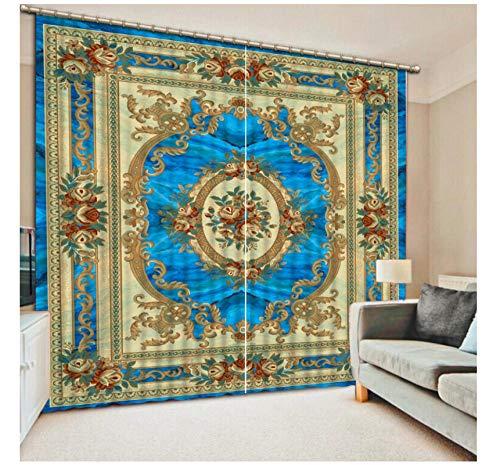 Aymsm customize curtains for living room Photo European pattern 3d stereoscopic pattern blackout curtains