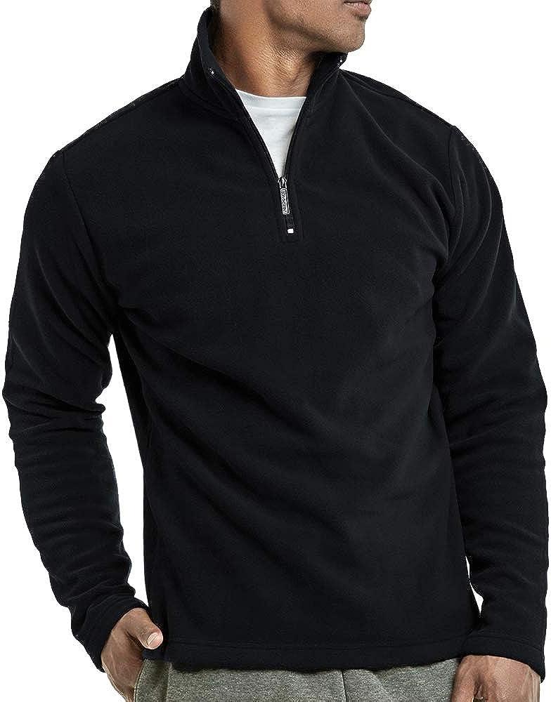 DailyWear Mens Polar Fleece Quarter Zip Pullover Sweater