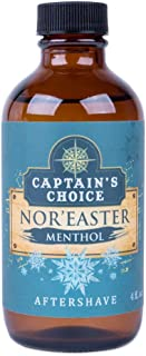 Captain's Choice Nor'Easter Menthol Scent Aftershave, 4 fl oz