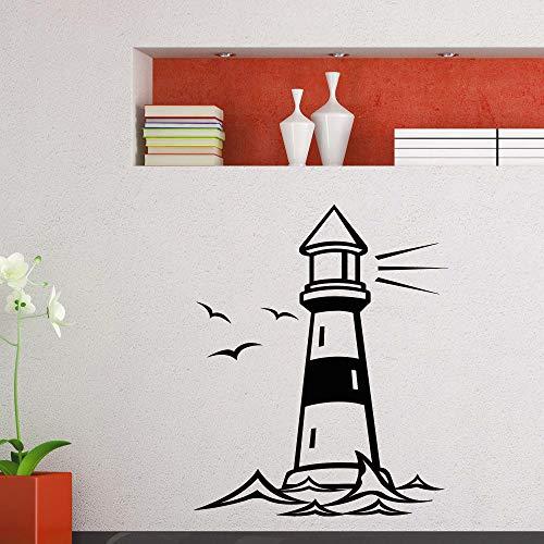 yaonuli Vinyl muur sticker vuurtoren oceaan muur sticker huisdecoratie vuurtoren ontwerp vinyl muur sticker zeemeeuw muurschildering