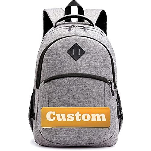 TCross Nombre Personalizado Casual Rucksack Camo Daypack Mochila Mini Mochila de la Escuela (Color : Grey, Size : One Size)