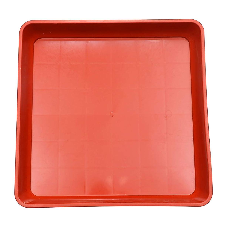貸す深いコメントYardwe 植物受皿トレー樹脂植物トレー多肉植木鉢用ドリップトレー(赤)