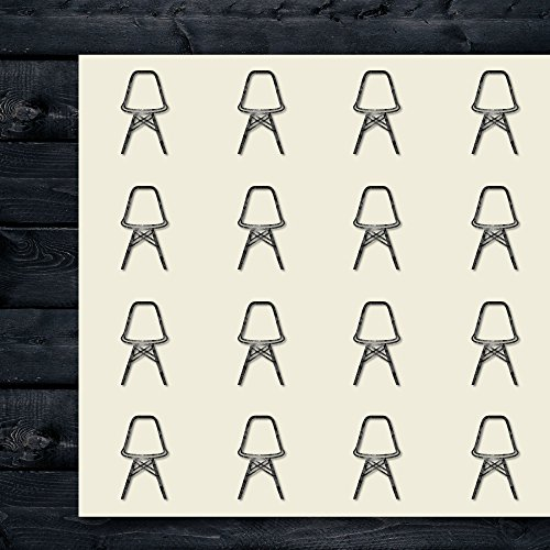 Eames Chair Vitra Home Craft Stickers, 30 Stickers at 1.5 Inches, Great Shapes for Scrapbook, Party, Seals, DIY Projects, Item 1080304
