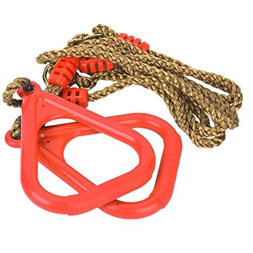 Verstelbare plastic schommel voor kinderen Gym Fitness Oefening Sport Hangende ring met touw(rood)