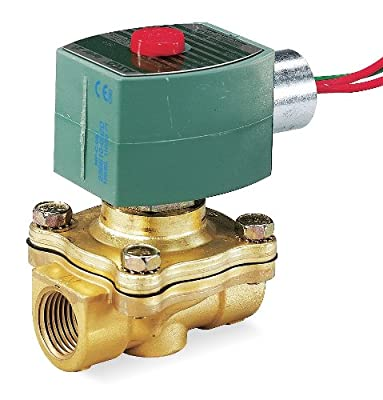 """24VDC Brass Solenoid Valve, Normally Open, 3/8"""" Pipe Size from REDHAT"""