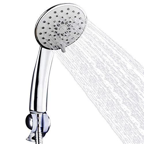 Iusun Handbrause mit 5 einstellbaren Einstellungen, Hochdruck-Regen, einfache Installation ohne Werkzeug – perfekt verstellbar und universeller Ersatz für Badezimmer A a