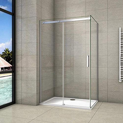120x70x195cm Mamparas de ducha cabina de ducha 8mm vidrio templado de Aica