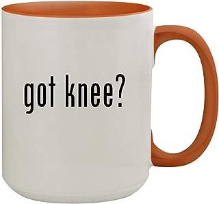 got knee? - 15oz Colored Inner & Handle Ceramic Coffee Mug, Orange