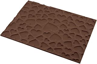 silikomart 23.072.77.0065 Tapis décor Magic Love, Silicone, Marron, 25 x 18,5 x 0,6 cm