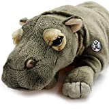 Kuscheltiere.biz Kiano - Hipopótamo de peluche tumbado (28 cm)