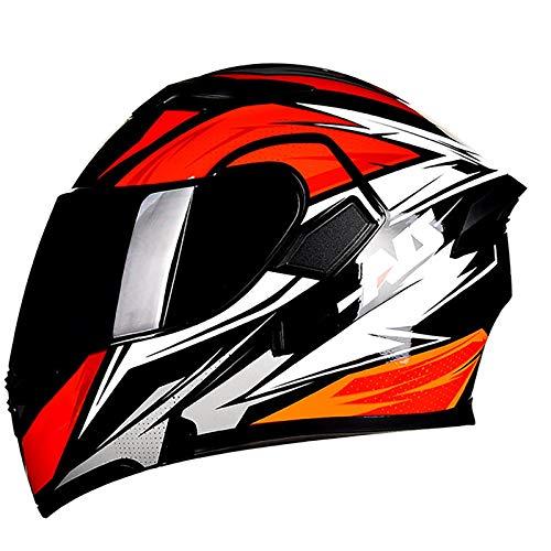 Casco Moto Modular,ECE Homologado Casco de Moto Integral para Patinete Motocicleta Bicicleta...