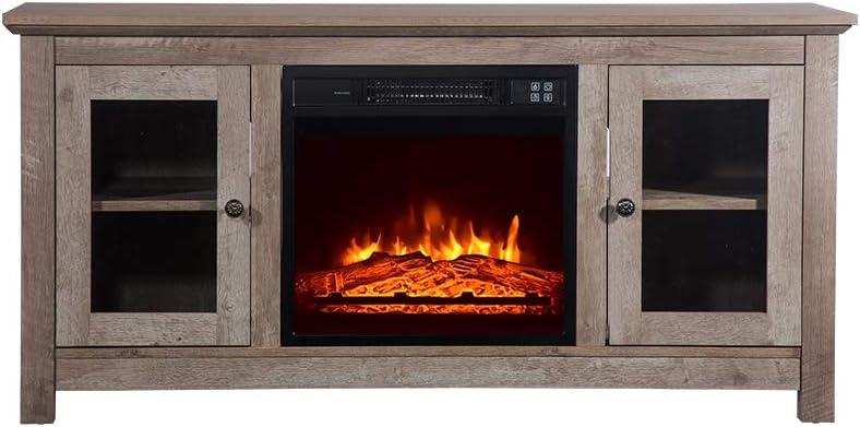 ZOKOP SF03-18G HA114-51 51-Inch Log Fireplace Max 85% OFF Cabinet Cyan TV Award 14