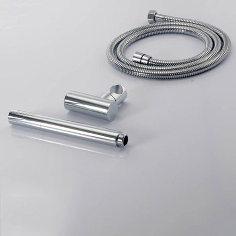 Cqq Hand shower Bathroom water heater full copper shower pressurized hand shower head Single head shower head Size  2.420CM ( Edition   C+1.5 m hose+base )