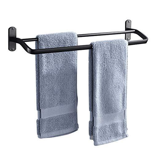 Badezimmerablage Handtuchhalter Handtuchhalter Free Punch Bad Doppel Handtuchhalter Sauger Wandmontage Ohne Bohren,40CM