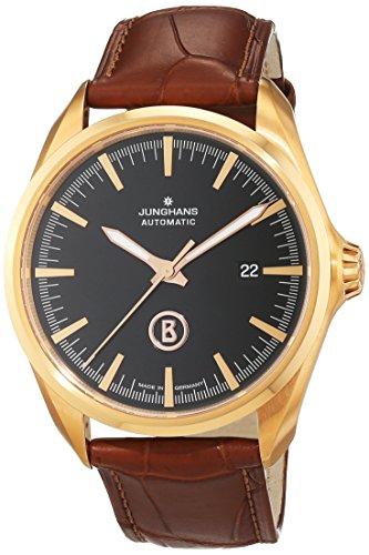 Junghans Herren-Armbanduhr XL Bogner Willy Automatic Analog Automatik Leder 027/7272.00