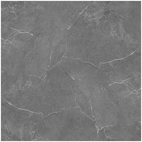 Durable Vinyl Decals, Charcoal Gray Granite Marble Design, DIY Peel and Stick, Self-Adhesive for Kitchen, Bathroom, Water and Heat Resistant