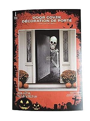 Haunted Halloween Skeleton Giant Door Decorations Goblin Dripping Blood 30 X 72 Perfect for Front, Refrigerator, Restroom or Classroom Door or Wall Posters or Window Dia de Los Muertos