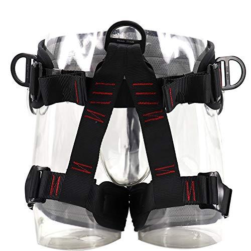 Vlook Verstellbarer Klettergurt, halber Körperführungsgurt, Outdoor-Trainingsausrüstung zum Abseilen, sicher und komfortabel, für Baumklettern, Abfahrten und Abenteuer