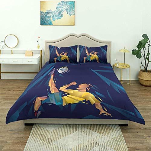 Yaoni 3-teiliges Bettwäsche-Set, Vektor von Cu...