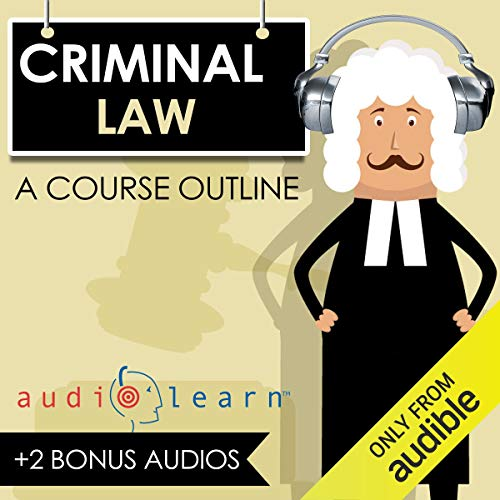 Criminal Law AudioLearn: A Course Outline audiobook cover art