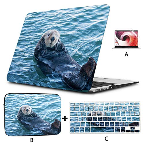 Macbook Pro Accessories California Sea Otter In Morro Bay On The Central C Macbook Pro 13 Cases Hard Shell Mac Air 11'/13' Pro 13'/15'/16' With Notebook Sleeve Bag For Macbook 2008-2020 Version
