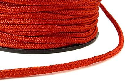 Paracord trenzado cuerda de plantilla 2 mm en rojo - 5 Meter