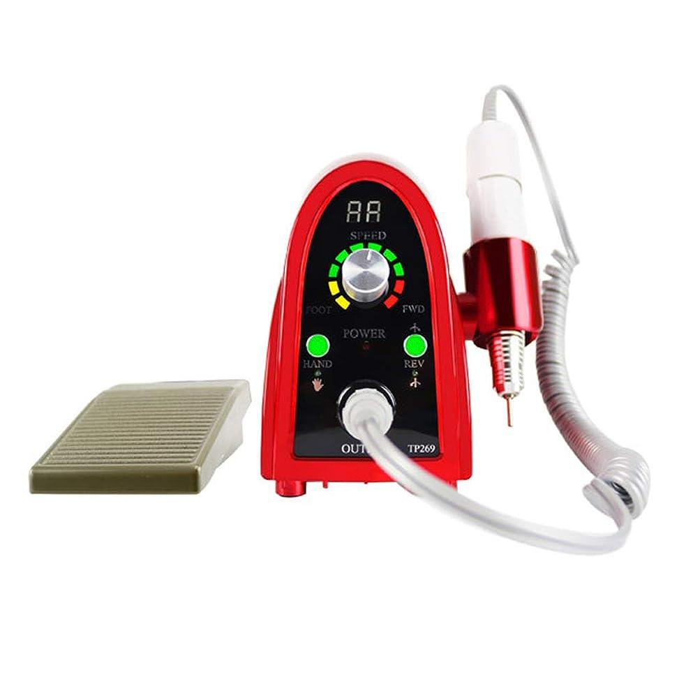 母性異常指定電気ネイル研磨リグ、アクリルマニキュア剥離ゲル用35000rpm自動ネイルポリッシャー