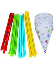 Time for Treats VKP1125 Snow Cone Cups and Straws, small