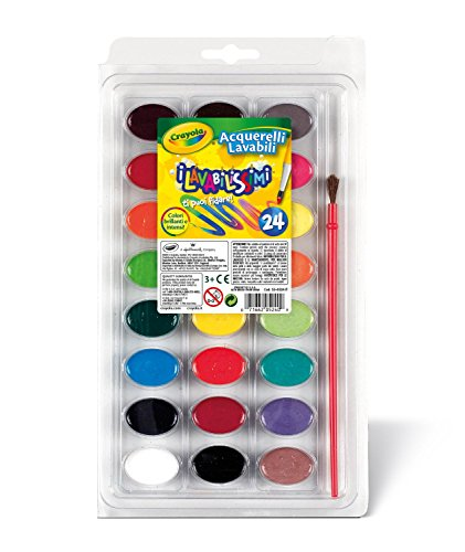 Crayola Washable Watercolors, 24 count (53-0524) (2 pack)