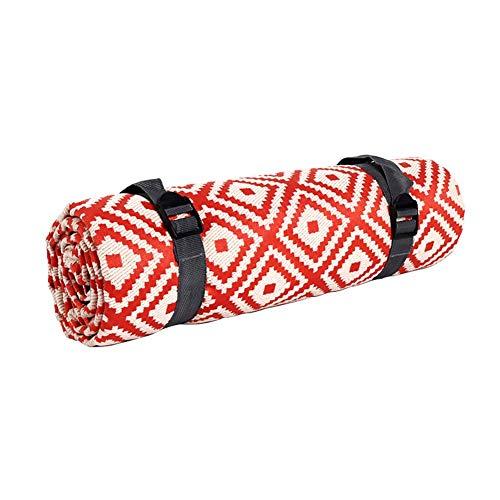 WTC Picknick-Decke Baumwolle mit wasserdichtem Rücken mit sandsicherer Stranddecke Tragbare Faltbare Matte mit Griffmaschine waschbarer Teppich für Garten Reise Camping Wandern
