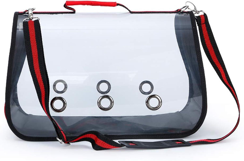 LLYU Portable Transparent pet Bag cat Dog Shoulder Bag Pet Out Bag Portable Backpack pet Supplies (Size   L5225  27)