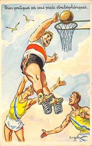 Basketball Springs Old Vintage Basketball Postcard Post Card
