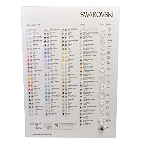 Swarovski Elements Bead Farbkarte, 1Stück