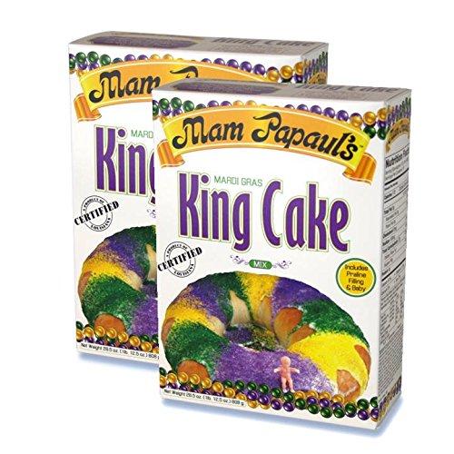 Mam Papaul's Mardi Gras King Cake Mix Kit 28.5 oz - 2 Pack